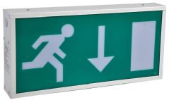 PRO ELEC PEL00784  Emergency Exit Sign Non M/Tained Dbl